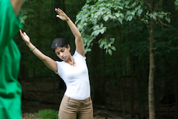 Photo of woman stretching